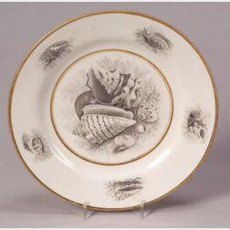 Eight Worcester Porcelain Barr, Flight and Barr Dessert Plates