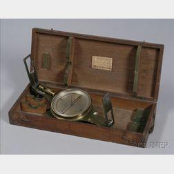 Brass Surveyor's Compass by Amsler