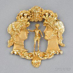14kt Gold Pendant, Eric de Kolb