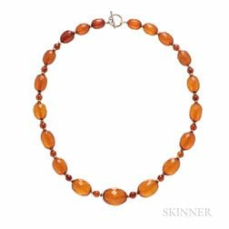 Amber Bead Necklace