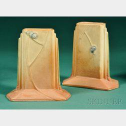 Pair of Roseville Futura Vases