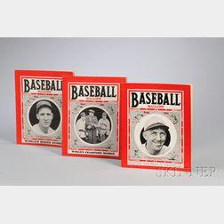 Twenty-six 1934-38 Issues of Baseball Magazine