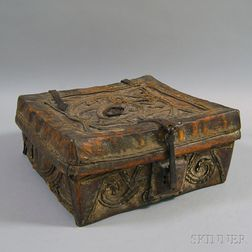 Spanish Colonial Leather Storage Box