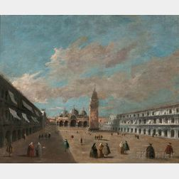 After Canaletto (Giovanni Antonio Canal) (Italian, 1697-1768)      Piazza San Marco
