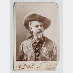 Buffalo Bill Signed Cabinet Card