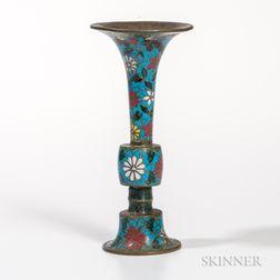 Cloisonne Gu  -shape Vase