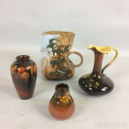 Four Rookwood Pottery Vessels