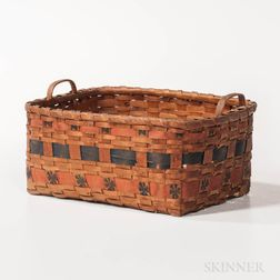 Paint-decorated Splint Basket