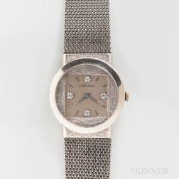 Longines 14kt White Gold Manual-wind Wristwatch