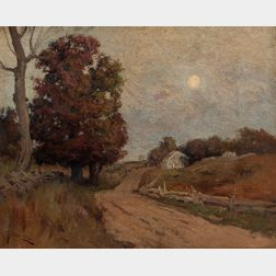 Franklin De Haven (American, 1856-1934)      Country Road in Early Autumn