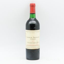 Chateau Trotanoy 1975, 1 bottle