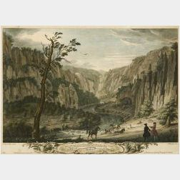 Two Framed Hand-tinted English Scenic Prints