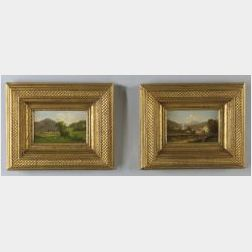 David Folger Bigelow (American ,1823-1910)  Lot of Two Vermont Landscapes.