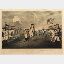 Nathaniel Currier publisher (American, 1813-1888)  SURRENDER OF LORD CORNWALLIS AT YORKTOWN VA. OCT. 19TH 1781.