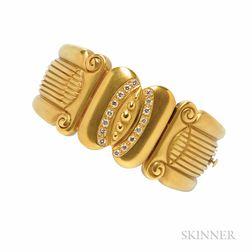 18kt Gold and Diamond Bracelet, Vahe Naltchayan