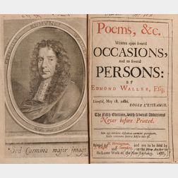 (Poetry, English), Waller, Edmund (1606-1687)