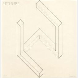 Sol LeWitt (American, 1928-2007)      Study for Incomplete Open Cube 6/25