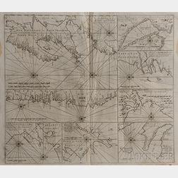 Newfoundland. Gerard van Keulen (1678-1726) New Found Land of Nieuw Vrankryk, of anders Genaamt Terra Neuf