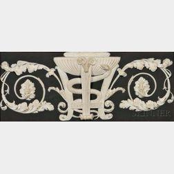Wedgwood Solid Black Jasper Mantle Plaque