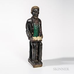 Carved Wood Figure of a Black Minister