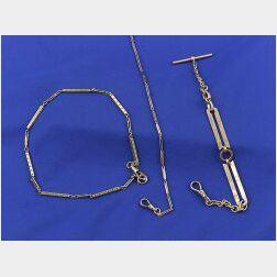 Three Gold Watch Chains