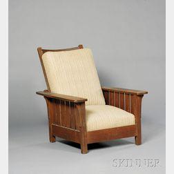 L. & J.G. Stickley Oak Adjustable-back Morris Chair