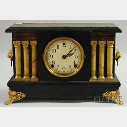 Sessions Black-painted Mantel Clock