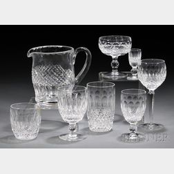 """Fifty-nine Pieces of Waterford Crystal """"Colleen"""" Pattern Stemware"""