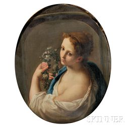 Continental School, 19th Century      Portrait of a Lady as Flora