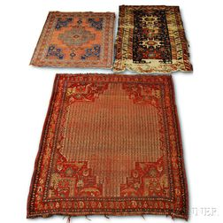Two Southwest Persian Rugs and a Kuba Rug