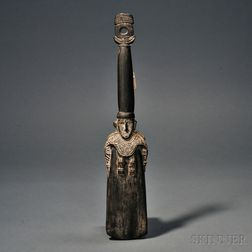 New Guinea Carved Wood Sago Ladle