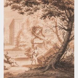 Abraham Rademaker (Dutch, 1675-1735)      Figures in an Arcadian Landscape