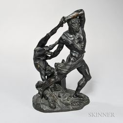 Continental Bronze Figure of Hercules