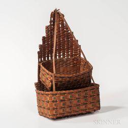 Two-tier Hanging Splint Basket