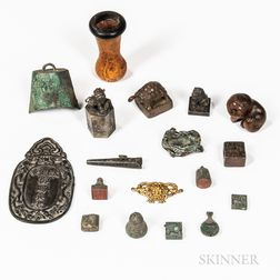 Group of Mostly Bronze Seals and Carvings