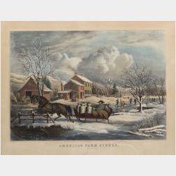 Nathaniel Currier, publisher (American, 1813-1888)  AMERICAN FARM SCENES.  NO. 4
