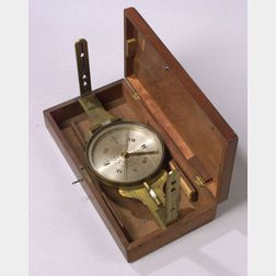 Lacquered-Brass Surveyor's Compass by Benjamin Pike & Sons