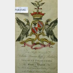 Set of Six Framed British Hand-colored Heraldic Prints