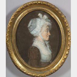 Attributed to Gerrit Schipper (Dutch/American, 1775-c. 1830)    Profile Portrait of a Woman.