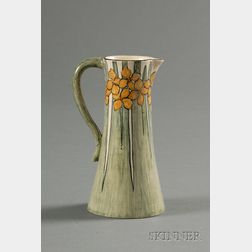 Newcomb College Decorated Pottery Pitcher