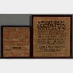 Two Needlework Samplers