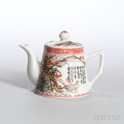 Famille Rose Covered Teapot