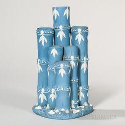 Wedgwood Solid Blue Jasper Bamboo Spill Vase