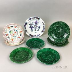 Eight English Ceramic Plates