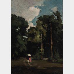 Emil Carlsen (Danish/American, 1853-1932)      Promenade