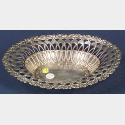 Whiting Manufacturing Co. Reticulated Sterling Bread Tray