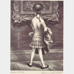 Lot of Four Prints:    George Biddle (American, 1885-1973), Michael John