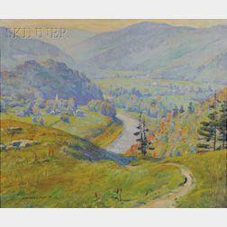 Howard Everett Smith (American, 1885-1970)      Valley Landscape, Early Autumn