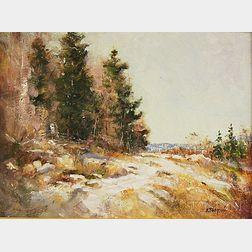 Albert Pasquale (American, 20th Century)      Winter Landscape