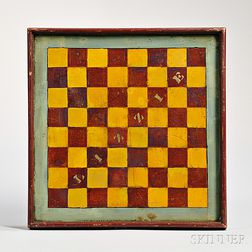 """Paint-decorated """"LIZZIE"""" Checkerboard"""